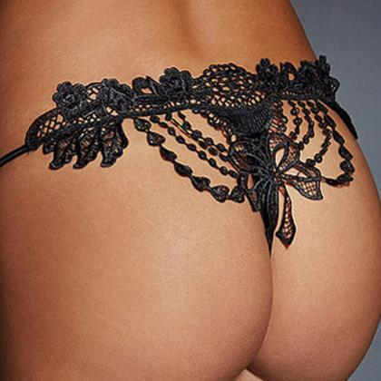 Sexy Lace Hollow Knickers(3 Colors)..