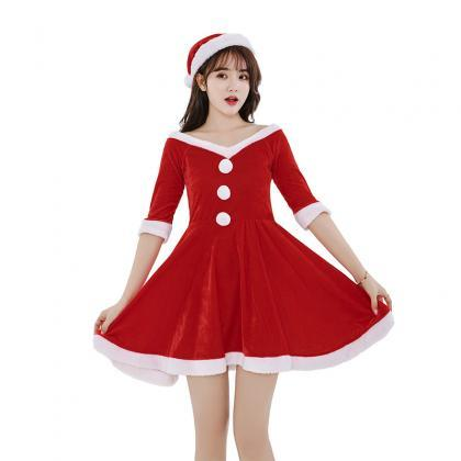 New Red Sexy Christmas Costume