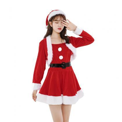 Mini Cute Long Sleeve Christmas Cos..