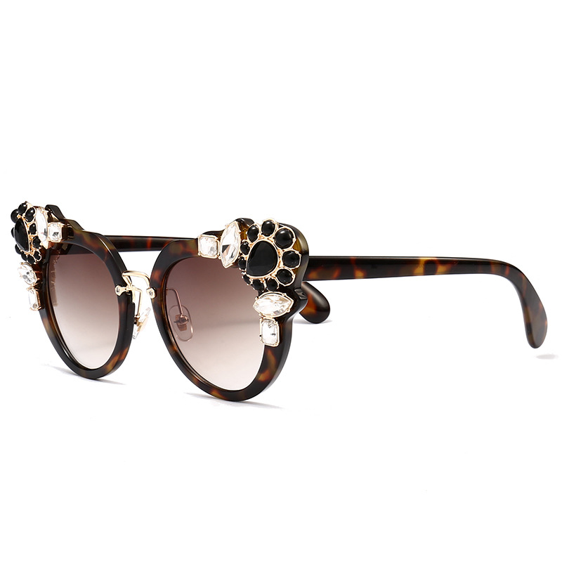 High Quality Cute Designer Sunglasses For Women - Brown Leopard