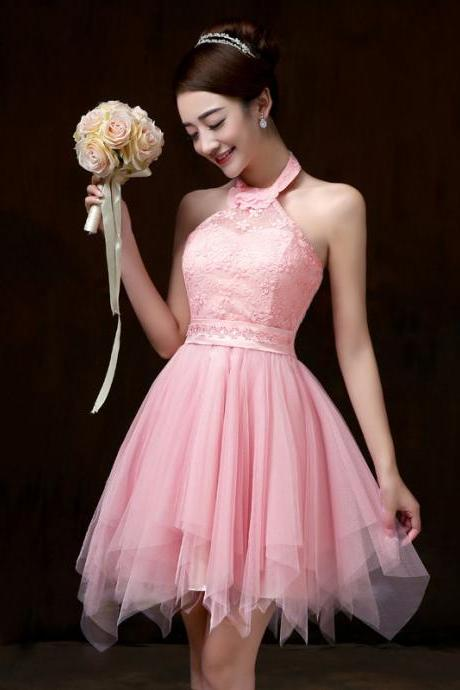New Halter Women Bridesmaid Prom Party Dress