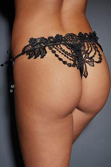 Sexy Lace Hollow Knickers(3 Colors)+Free Shipping
