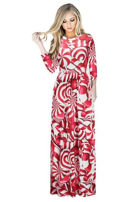 New Floral Christmas Maxi Dress 1198