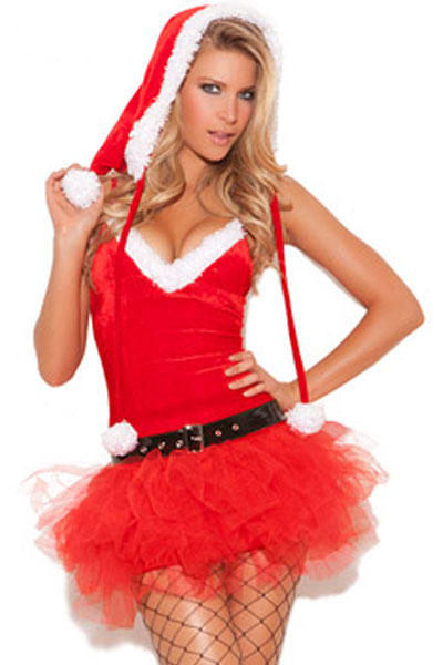 Sexy Christmas Miss Santa's Sweetie Costume