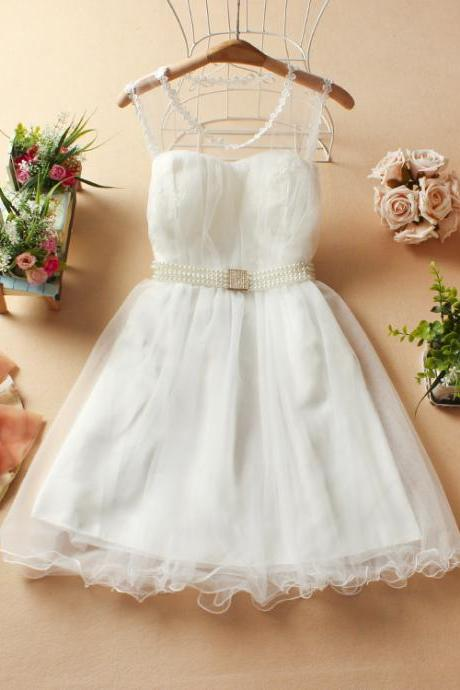 Autumn new party dresses bridesmaid dress initiation rite one-piece dress-White