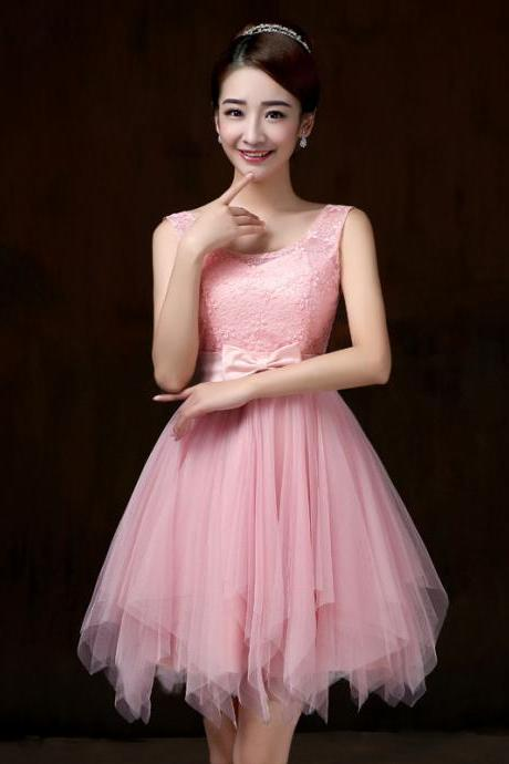 Cute And Fashion mini bridesmaid dresses for wedding guests sister party formal dress prom dresses
