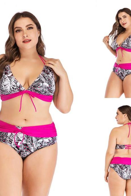 Plus Size Women Summer Beach Bikini Set