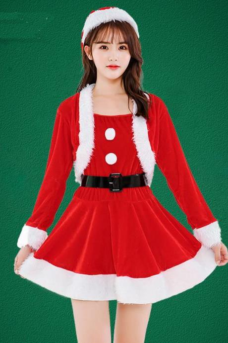 Mini Cute Long Sleeve Christmas Costume
