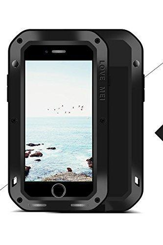 iPhone 8 Plus Shockproof Case, Love Mei Heavy Duty Armor Tank Waterproof/Shockproof Dust/Dirt/Snow Proof Aluminum Metal Case Cover for iPhone 8 Plus with Screen Protector(5Colors)