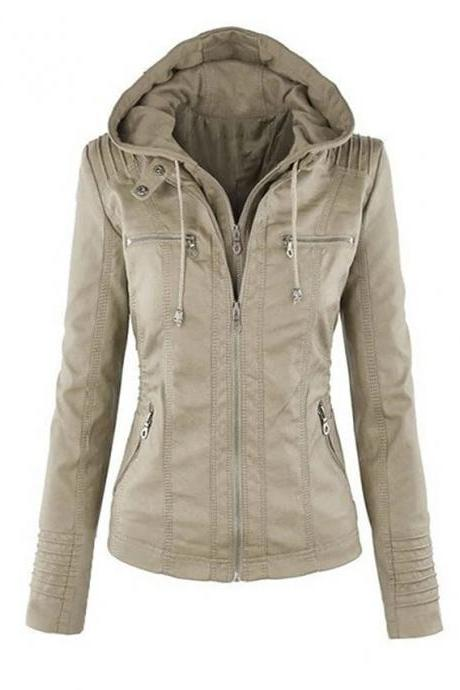 High Quality omen's Jacket Regular Solid Colored Daily - Camel