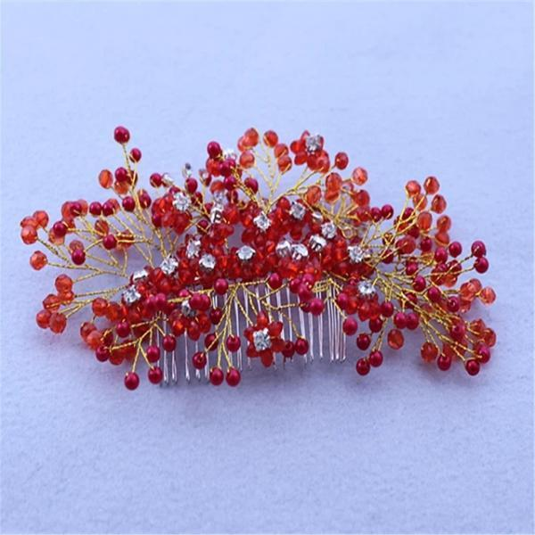 Crystal / Rhinestone / Alloy Hair Combs / Headpiece with Rhinestone / Crystal 1 Piece Wedding Headpiece - Red
