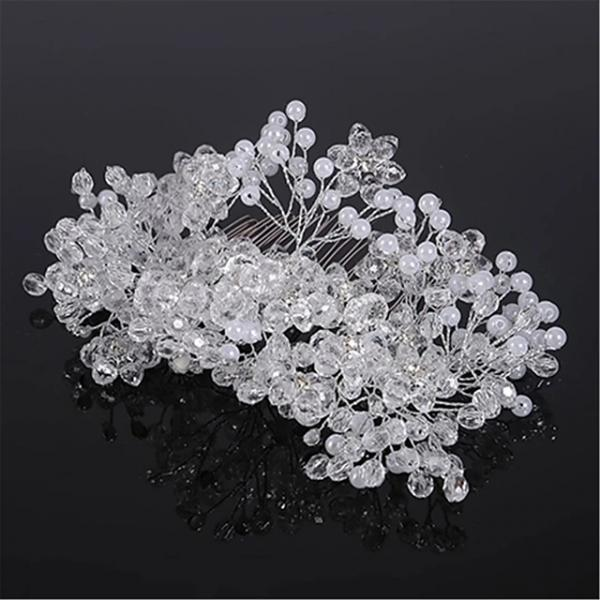 Crystal / Rhinestone / Alloy Hair Combs / Headpiece with Rhinestone / Crystal 1 Piece Wedding Headpiece - Silver