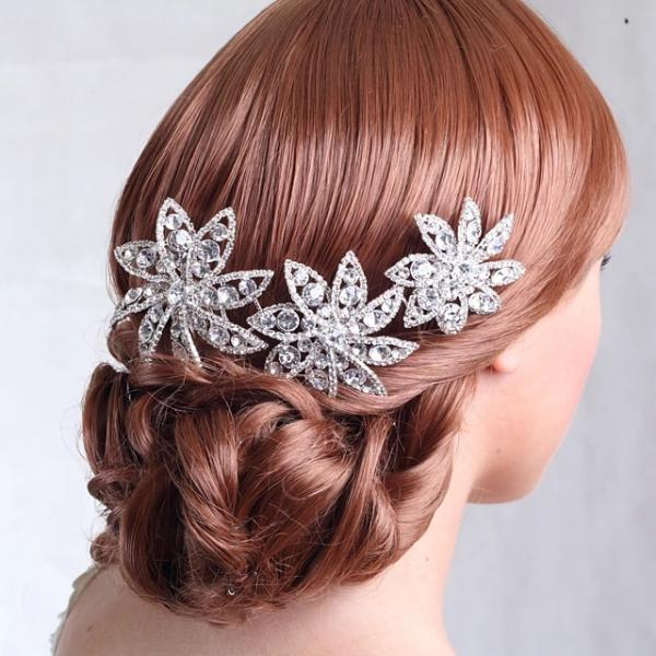 Rhinestone / Alloy Hair Combs with Rhinestone 1 Piece Wedding Headpiece